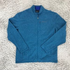 Marmot Sweater Fleece Full Zip Blue Drop Line XL